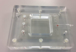 CNC Micromachining piece for Microfluidics